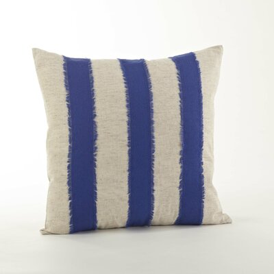 Kimpel Banded 100% Cotton Throw Pillow Color: Cobalt Blue