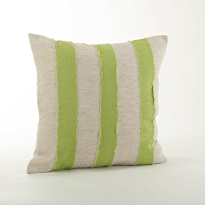 Kimpel Banded 100% Cotton Throw Pillow Color: Lime