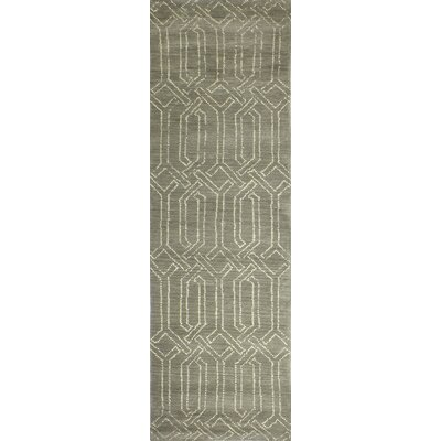 Bryden Hand-Tufted Taupe Area Rug Rug Size: Runner 26 x 8