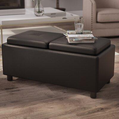 Shawsville Storage Ottoman Upholstery: Black