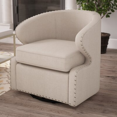 Microscopium Barrel Chair Upholstery: Beige