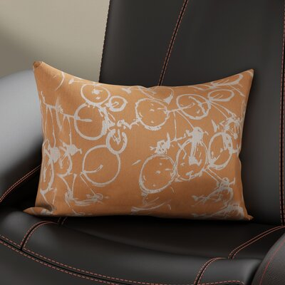 Davey Pedal Power Lumbar Pillow Cover Color: OrangeNeutral