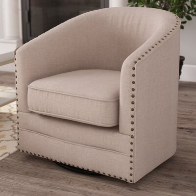 Macauley Barrel Chair Finish: Beige