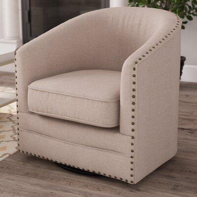 Macauley Classic Retro Upholstered Barrel Chair Finish: Beige