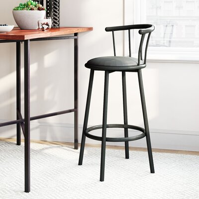Cantara 29 Swivel Bar Stool Finish: Black