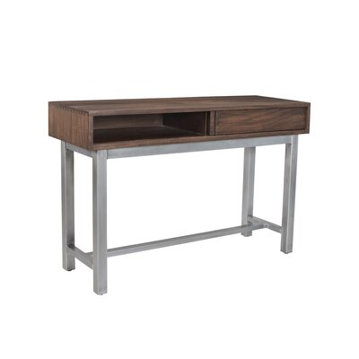 Dodson Console Table Finish: Stout/Chrome