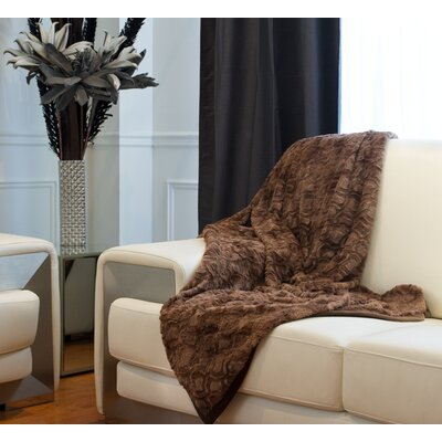 Courtnay Faux Fur Throw Color: Brown