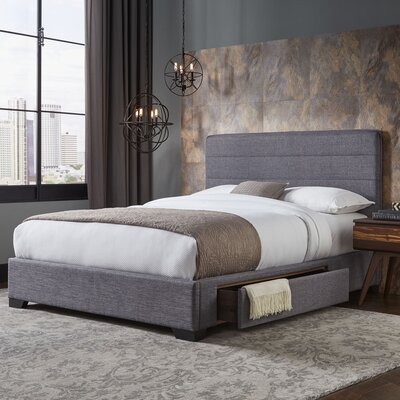 Cerrone Upholstered Storage Panel Bed Size: California King