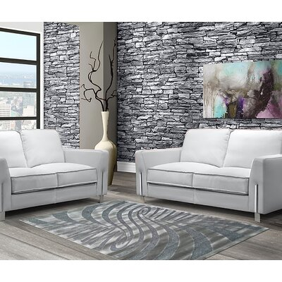 Malakai Abstract Gray Area Rug Rug Size: 5 x 8