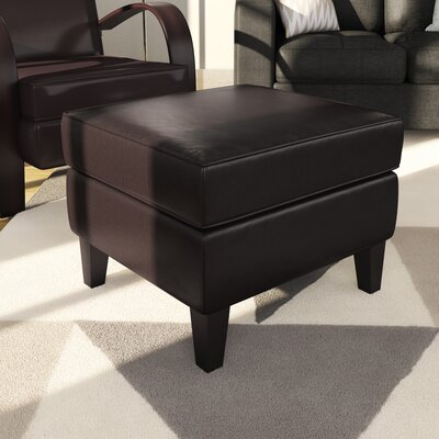 Strayer Ottoman Upholstery: Brown