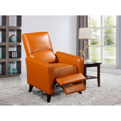 Fredia Club Chair Recliner Upholstery : Cognac