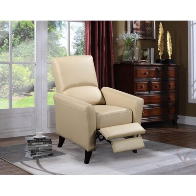 Fredia Club Chair Recliner Upholstery : Latte