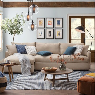 Asher Sectional Upholstery: Zula Rawhide