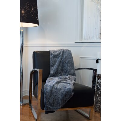 Courtnay Faux Fur Throw Color: Gray