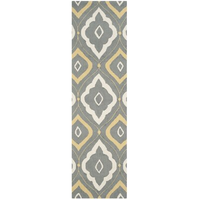 Salome Gray/Ivory Indoor/Outdoor Area Rug Rug Size: Runner 23 x 8