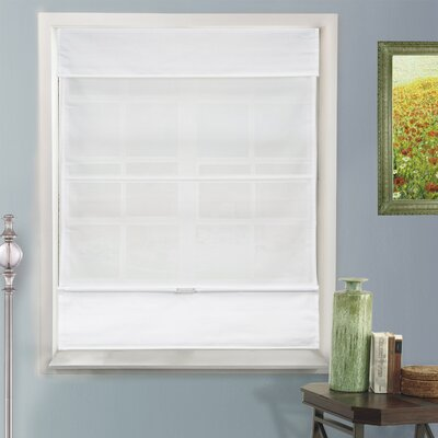 Natural Room Darkening Roman Shade Color: Daily White, Size: 26.5 W x 64 L