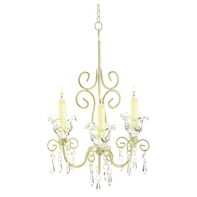 Heikkinen Iron & Acrylic 3-Light Crystal Chandelier