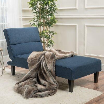 Harlowe Chaise Lounge Upholstery: Dark Blue
