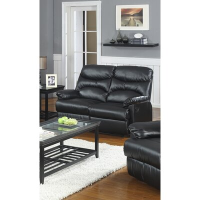 Sedgwick Reclining Loveseat Type: Manual, Upholstery: Black