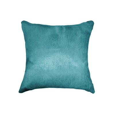 Plumsted Leather Throw Pillow Color: Sky Blue