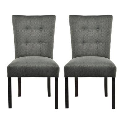 Deann Side Chair Upholstery: Candice Charcoal