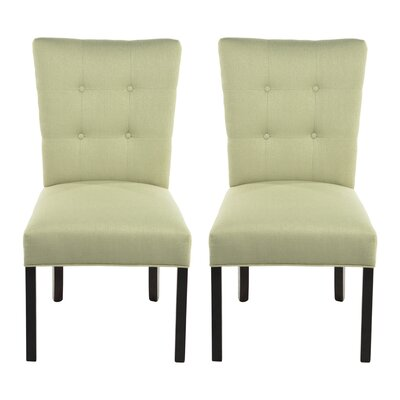 Deann Side Chair Upholstery: Candice Sea Foam