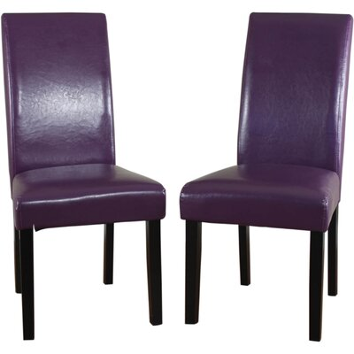 Aubrey Parsons Chair Upholstery: Boysenberry, Finish: Espresso