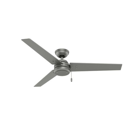 52 Cassius 3-Blade Ceiling Fan Finish: Matte Silver