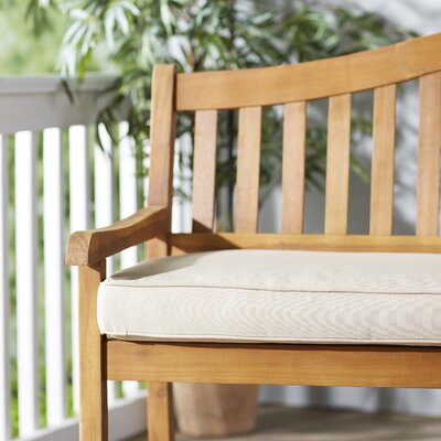 Telleman Outdoor Sunbrella Bench Cushion Fabric: Canvas Antique Beige, Size: 60 W x 19 D