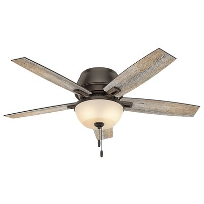 52 Donegan 5-Blade Ceiling Fan Finish: Onyx Bengal