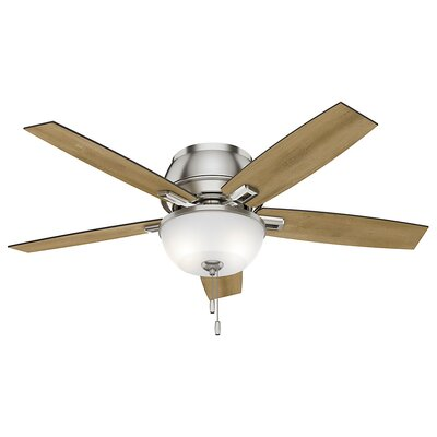 52 Donegan 5-Blade Ceiling Fan Finish: Brushed Nickel