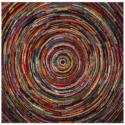 Miley Misc Red Area Rug Rug Size: Square 66