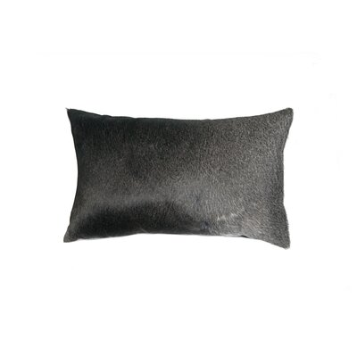 Plumsted Leather Lumbar Pillow Color: Gray/White