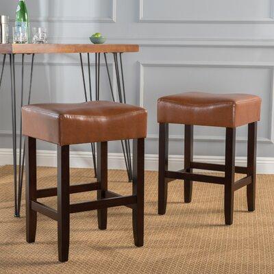 Lorraine 26.71 Bar Stool Upholstery: Hazlenut