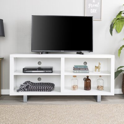 Depasquale 58 TV Stand Color: White