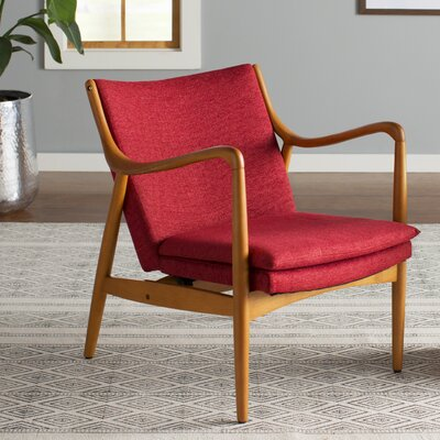 Waugh Armchair Color: Red