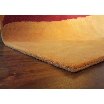 Piazza Hand-Tufted  Yellow Area Rug Rug Size: 36 x 56