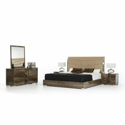 Fruge 5 Piece Bedroom Set Size: Queen