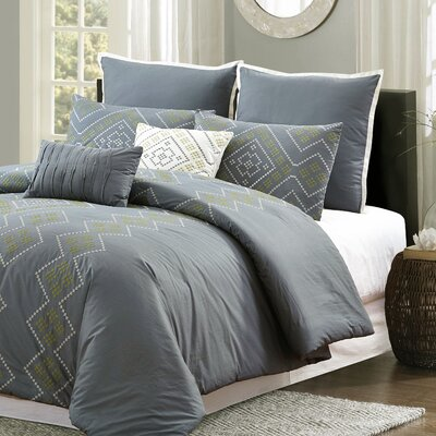 Athena Tribal Geo 7 Piece Comforter Set Size: King