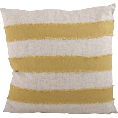 Palatka Banded 100% Cotton Throw Pillow Color: Lime