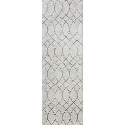 Kelson Hand Tufted Wool Beige Area Rug Rug Size: Runner 26 x 8