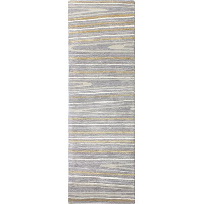 Kelson Hand-Tufted Gray Area Rug Rug Size: Runner 26 x 8