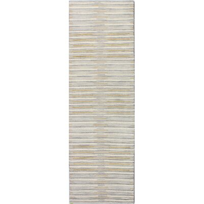 Bryden Hand-Tufted Silver Area Rug Rug Size: Runner 26 x 8
