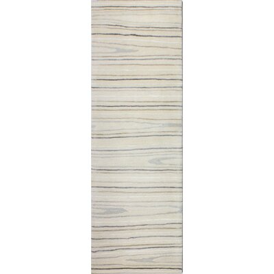 Kelson Hand-Tufted Ivory Area Rug Rug Size: Runner 26 x 8