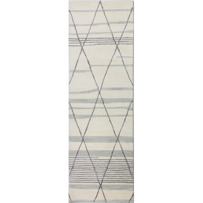 Kelson Hand Tufted Wool Ivory Area Rug Rug Size: Runner 26 x 8