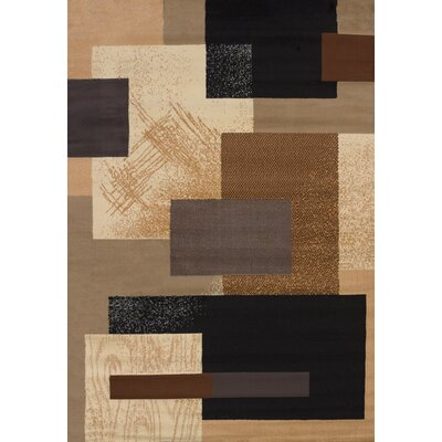 Queenstown Brown Area Rug Rug Size: Runner 111 x 74