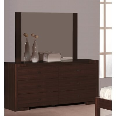Jerome 6 Drawer Double Dresser Color: Wenge