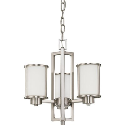 Floyd 3-Light Shaded Chandelier Bulb Type: Fluorescent