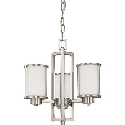 Floyd 3-Light Shaded Chandelier Bulb Type: Fluorescent
