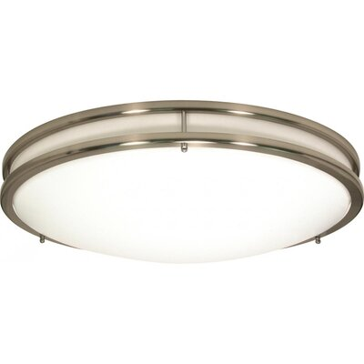 Sid 1-Light LED Brushed Nickel Flush Mount Size: 17